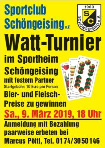 Watturnier @ Vereinsheim