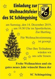 Weihnachtsfeier @ Vereinsheim